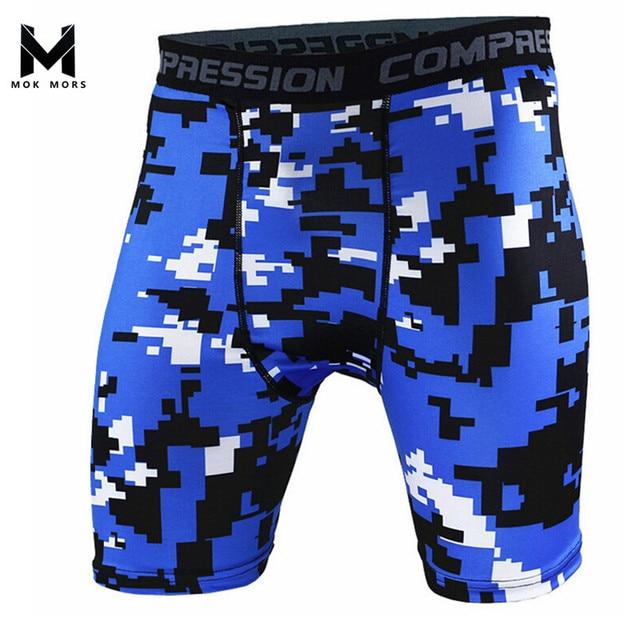 MOK MORS M Mens Compression Shorts 2017 Summer Camouflage sweatpants  Fashion Brand Shorts Men Bodybuilding Shorts 790384eeb6ad
