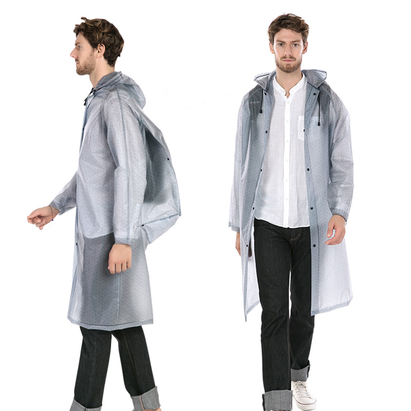 Jacket Backpack Raincoats Poncho Schoolbag Hooded Plastic Hiking Waterproof Thick Ladies