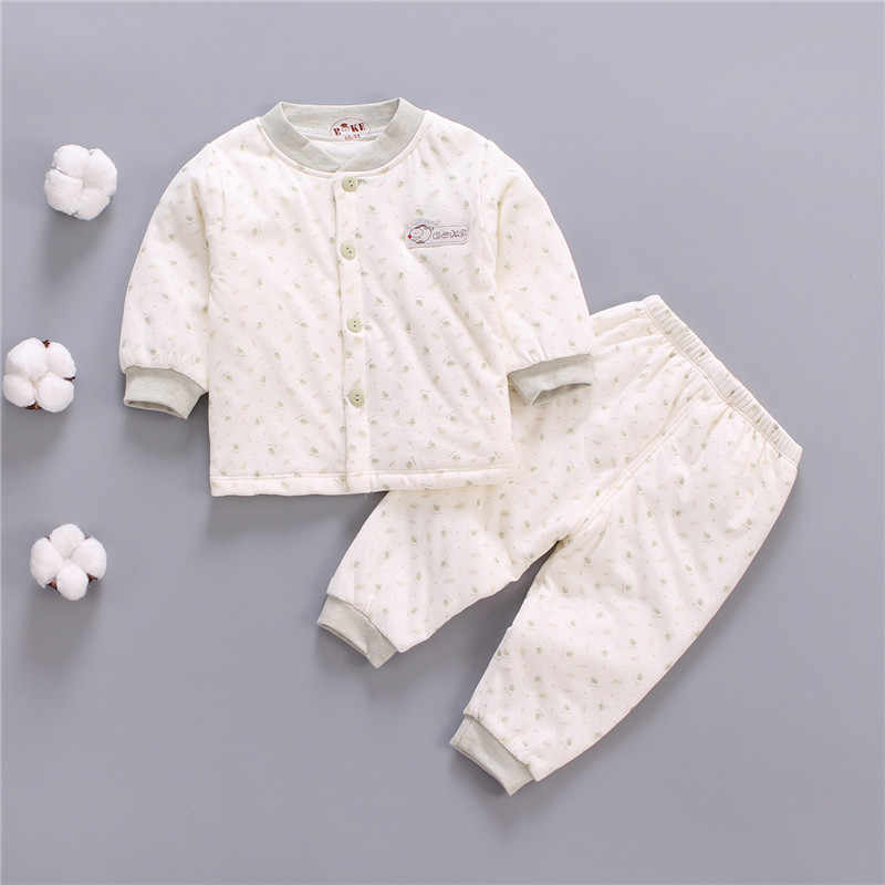 91dd293a6f873 Newborn baby winter warm clothing set toddler pajamas clothes infant coat+pants  2pcs suit for