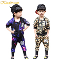 Kindstraum Boys Clothing Sets for Kids 2017 Spring Fashion Hooded 2pcs Coat + Pants Camouflage Children Sports Outwear, MC387