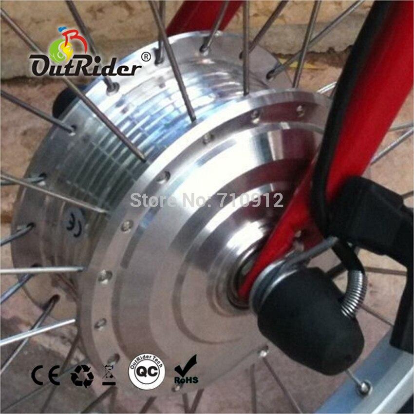 Kit e-bike pliant 24 V 250 W/pièces moyeu sans balai MotorDahon/Brompton CE/EN15194 approuvé rpm personnalisé OR01A4