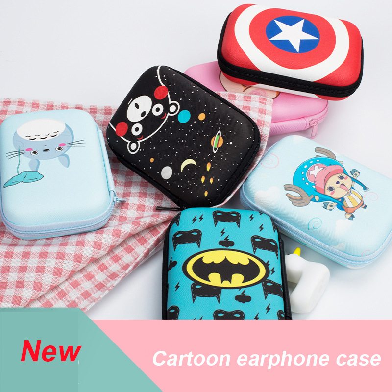 2018 Earphone Storage Bag Case For Headphone Earbuds Key Coin Hard Holder Box Carrying Usb Charger Cable Protector Cable Winder Consumer Electronics