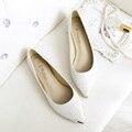 2016 nueva tendencia de la moda de Las Mujeres shinning Zapatos Planos de Deslizamiento En zapatos de Las Mujeres de La Boca baja Zapatos Planos de Las Mujeres lentejuelas Mate plana zapatos