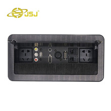 JSJ Multi-function desktop socket power supply AV audio USB2.03.5 headset VGA card Nong female HDMI network interface