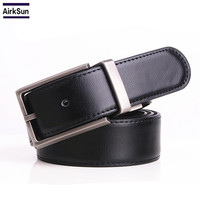 Male Pin Buckle Belt Buckle Youth Double Sided Leather Rotating Belt Buckle Belts Authentic Pure