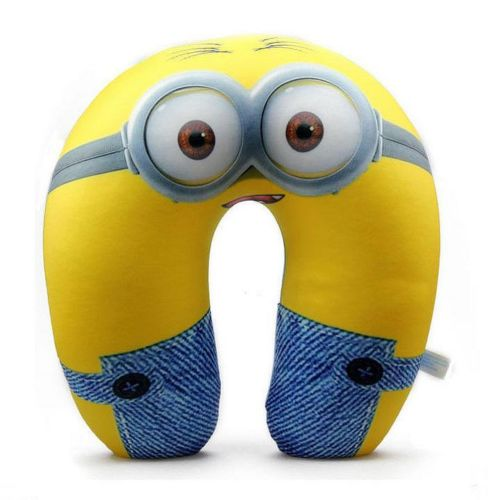 1Pcs New Despicable Me Stuart U Sharp Travel Micro Beads Neck Pillows 13 11 New K3201
