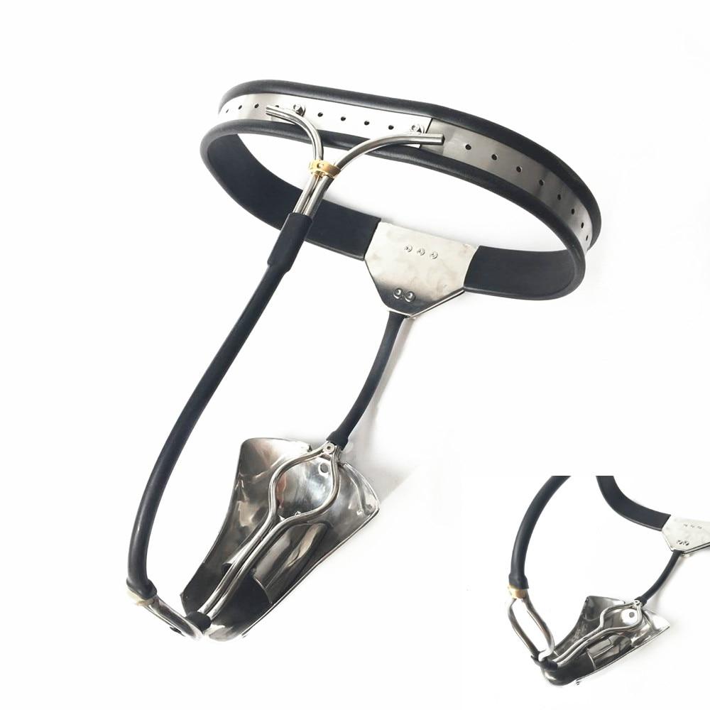 En Acier inoxydable Ceinture De Chasteté Mâle Dispositif de Chasteté Cage BDSM Jouets Sexuels Pour Les Hommes anneau de Pénis Maître Esclave Retenue Adulte jeux
