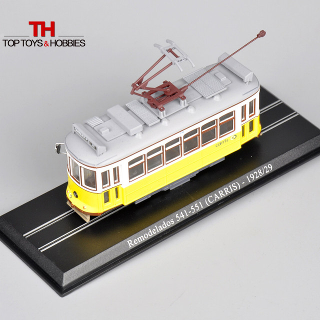 Diecast Toy Tram Atlas 1/87 Remodelados 541-551 (CARRIS) -1928/29 StaticTrem 1:87 Scale Car Toys Collections Home Decors