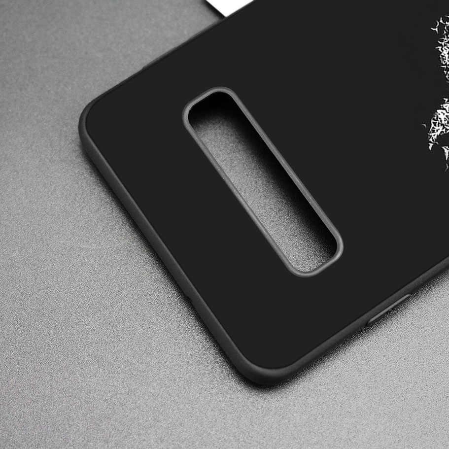 Batman Siêu Anh Hùng Đen Silicone Trường Hợp đối Với Samsung Galaxy M20 S10e S10 S9 M10 S8 Cộng Với 5G S7 S6 Cạnh bìa Coque