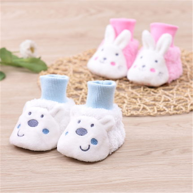 Cute Baby Shoes Newborn Cotton Soft Bottom Baby's Bootees With Bell Footwear Cute High Quality Baby Shoes Winter 80A1045