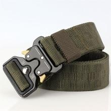 купить Nylon Cobra Buckle Tactical Men Belt Quick Release Army Fan Male Military Belts Canvas Designer Men Traninng Waist Belt Hunting дешево