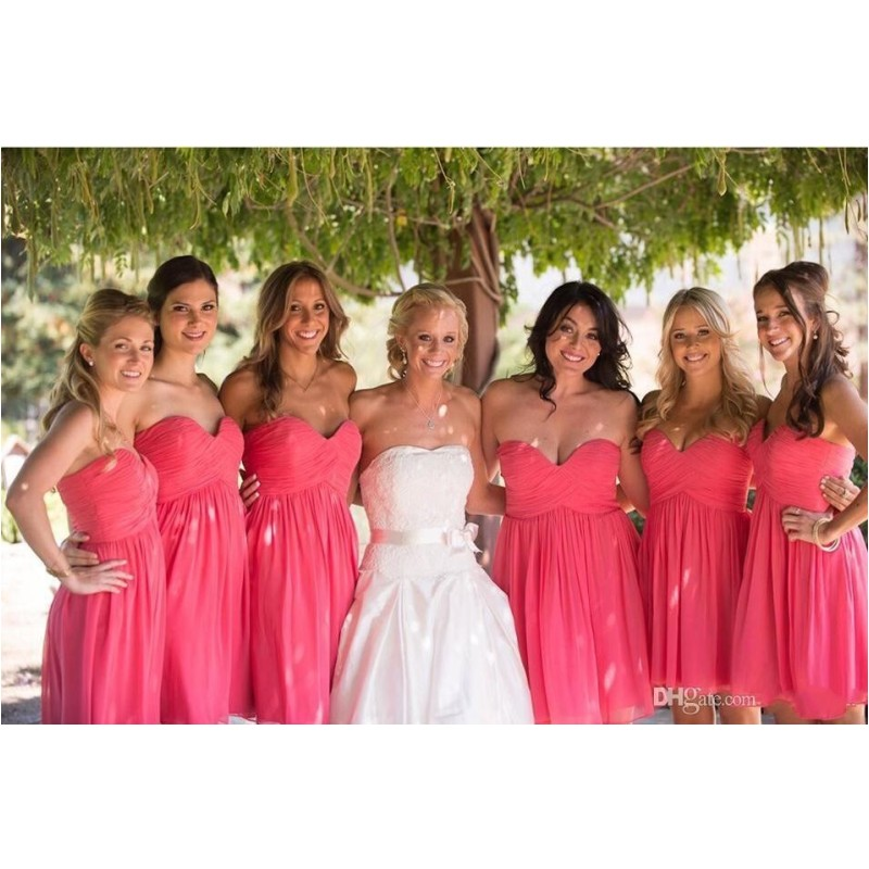 Popular Short Hot Pink Bridesmaid Dresses-Buy Cheap Short Hot Pink ...