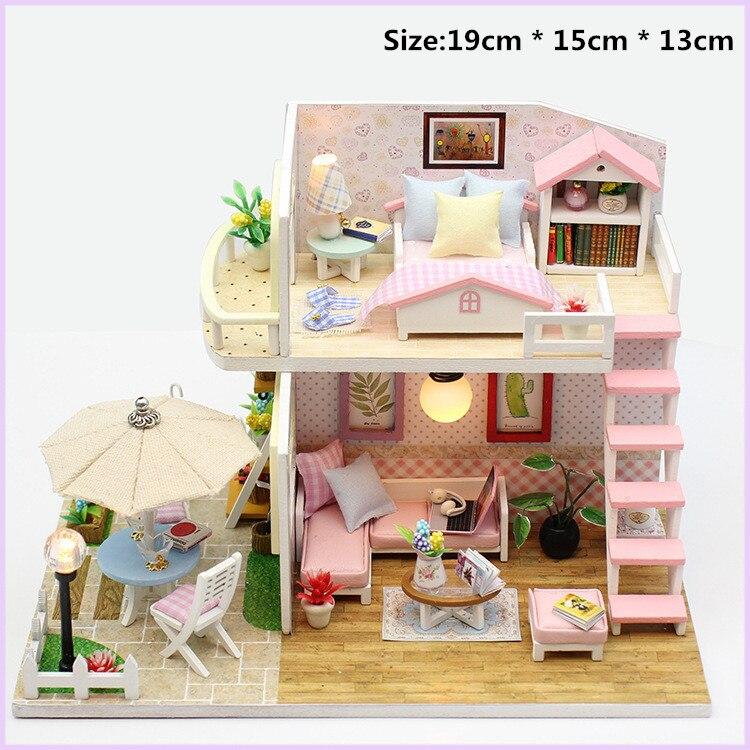 Maison de Poupée Miniature Bricolage Dollhouse avec Meuble Cadeau Anniversaire
