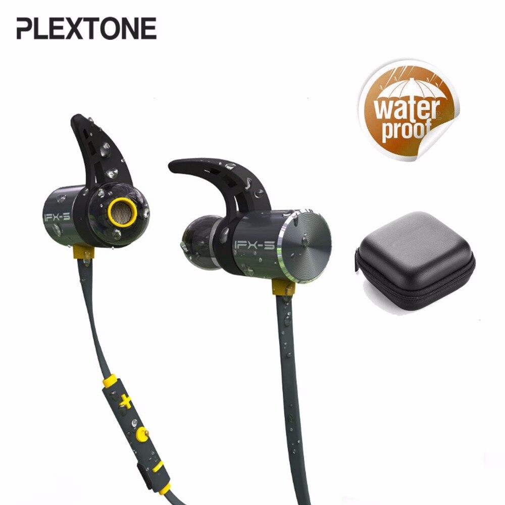 Plextone BX343 inalámbrica Bluetooth auriculares IPX5 impermeable auriculares magnético auriculares deporte con micrófono para iPhone Xiaomi