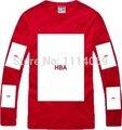 Nuevo 2015 Verano Hombres Pyrex tee de manga larga t-shirt de diseño de bloque grande camiseta hip hop Camiseta camiseta de Algodón de moda Campana Por Aire HBA