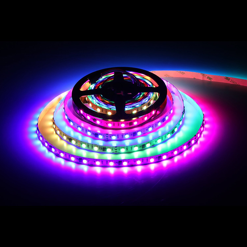 5050 SMD RGB WS2811 led strip 5m 60leds/m DC12V 2811 Addressable Digital led strip Led Pixels External 1 ic control 3 Leds купить в Москве 2019