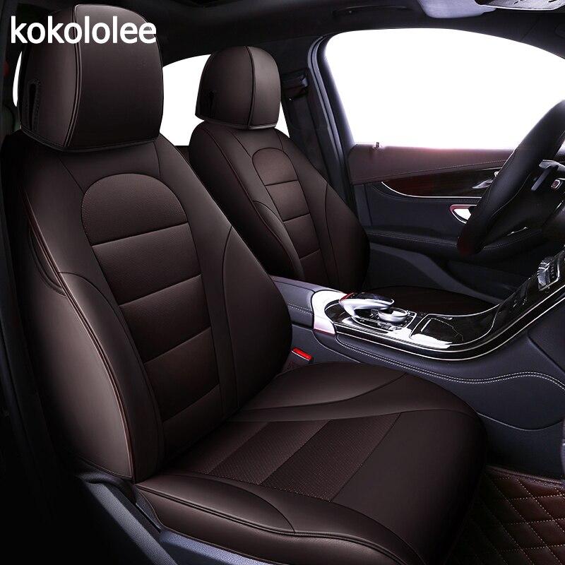 Kokololee housse de siège de voiture en cuir véritable sur mesure pour BMW x1 x2 x3 x4 x5 x6 z4 1 2 3 4 5 7 Series protection de sièges de voiture style voiture