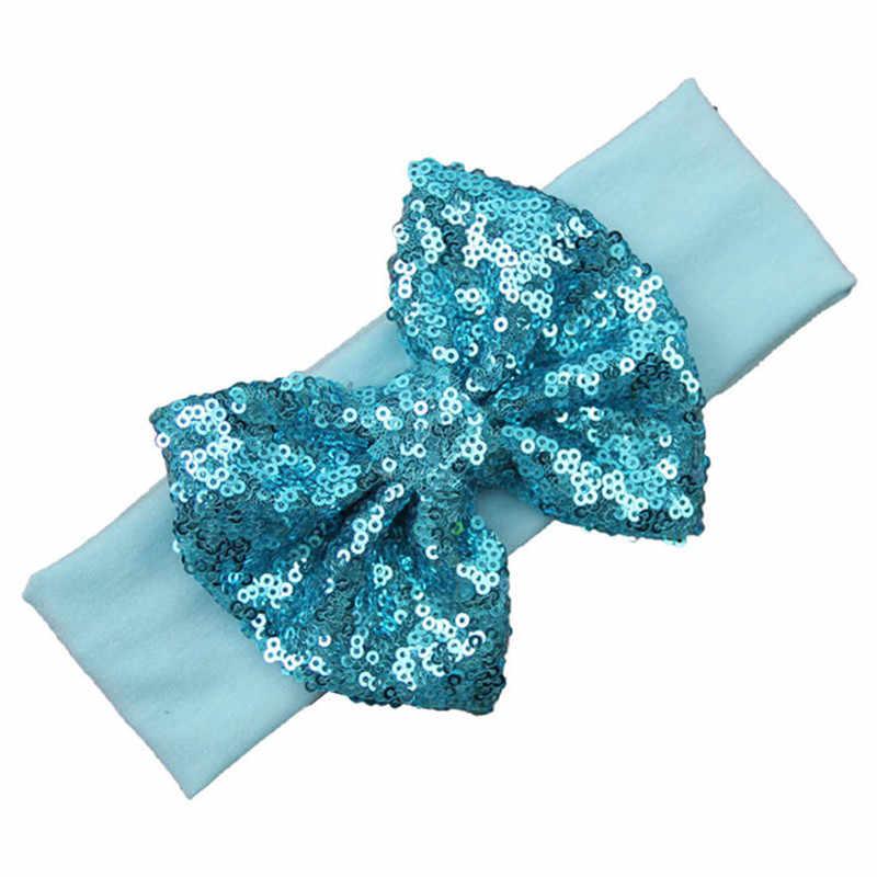 Блестящие повязки на голову для маленьких девочек, 13 цветов, эластичная чалма, резинки для волос, аксессуары для девочек, головной убор, реквизит для фотосъемки