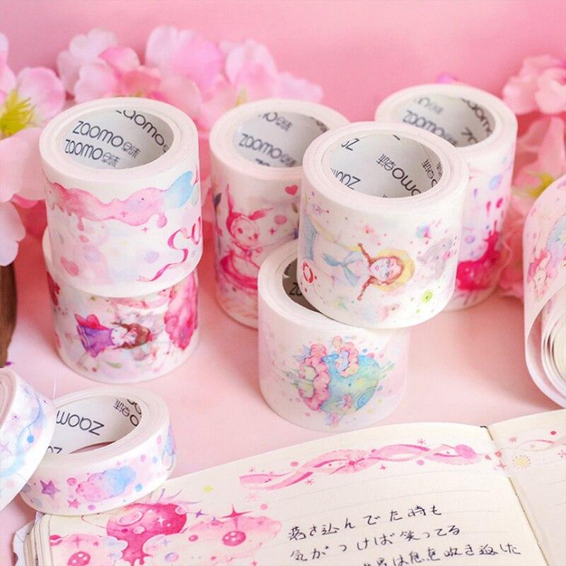 5M Pink Teenage Girl Fantasy Starry Sky Washi Tape DIY Decoration Scrapbooking Planner Masking Tape Adhesive Tape Kawaii