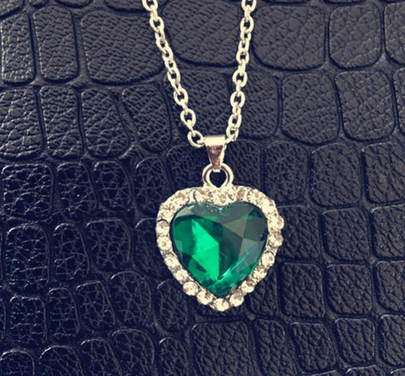 Anenjery Classic Κολιέ Zircon Γυαλί Ωκεανό - Κοσμήματα μόδας - Φωτογραφία 6