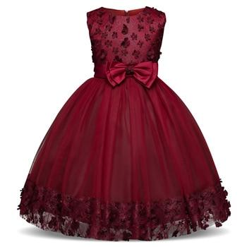 Summer Flower Dress Girl Princess Costume Dresses Girl Party Wear Tulle Kids Children Prom Gown Vestido Formal Dress 4-10 Years