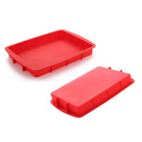 DIY Cake Tools Non stick Rectangular Silicone Cake Mold Cake Pan Baking Tools For Cakes Heat Resistant Bread Toast Mold|Cake Molds|Home & Garden -