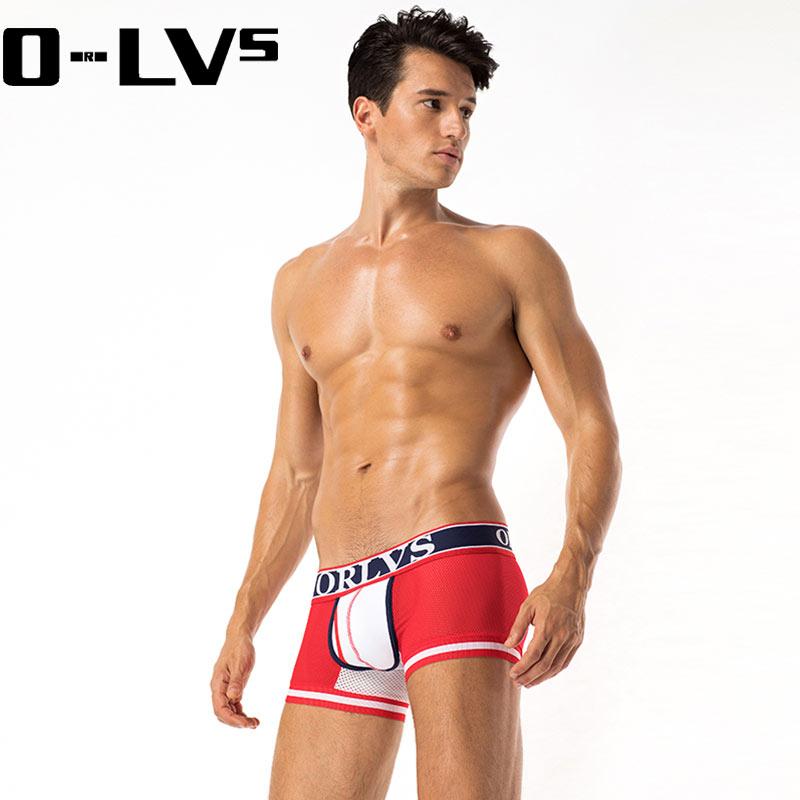 CMENIN Boxer Men ORLVS Underwear Mens Boxer Mesh Underwear Men Boxershorts Men Summer Cueca Male Panties Shorts Underwear OR399