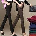 2017 Autumn Winter Elegant Women Straight Pants Casual High Waist Long Pants Ladies Office Work Wear Trousers Plus Size E76