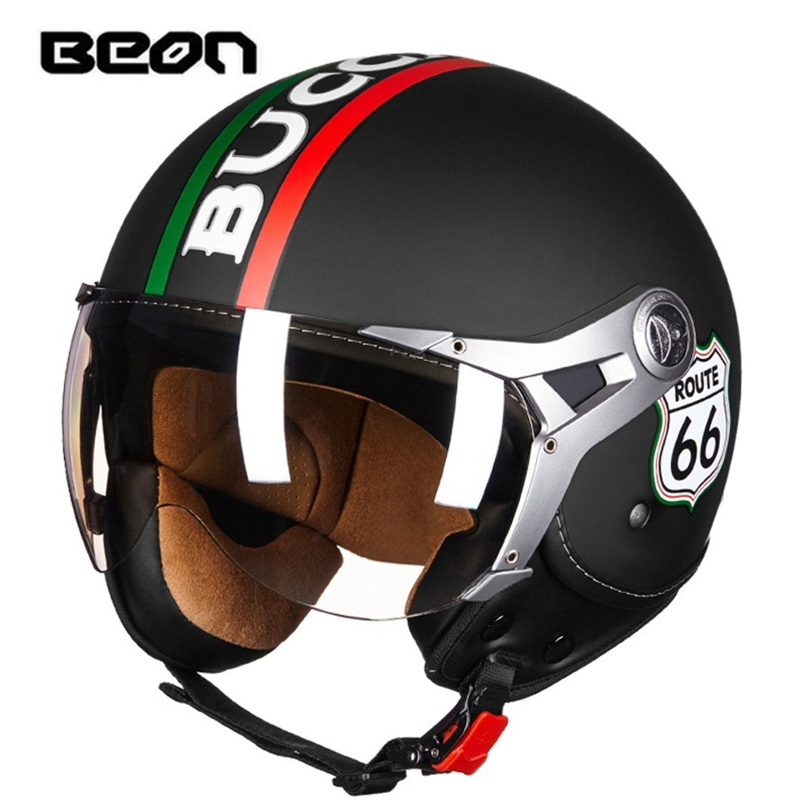 Free shipping 1pcs Motorcycle Vintage Half Helmet Motocross Biker Cruiser Scooter ABS Open Face Casque Casco Motorcycle Helmet