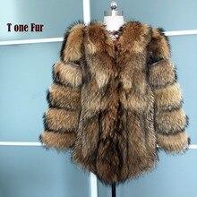 Роскошная Толстая теплая зимняя шуба из натурального Лисьего меха, женская верхняя одежда, настоящая свиная кожа, Меховая куртка, KSR68