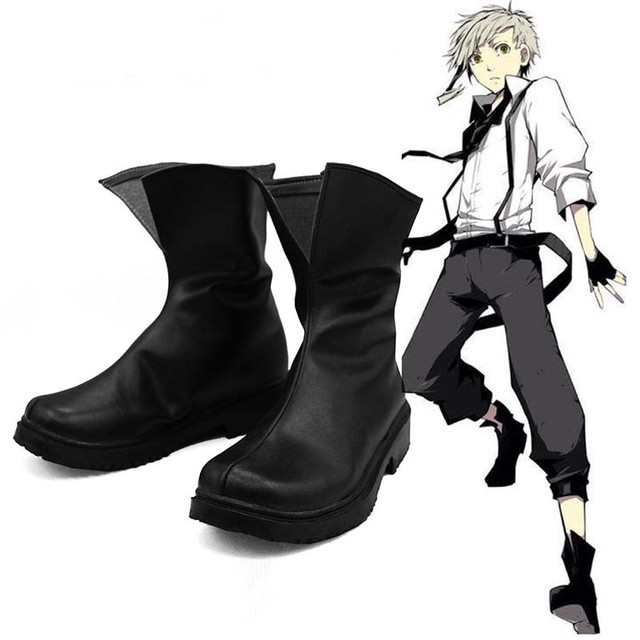 Anime Bungou Perros Callejeros Atsushi Nakajima Cosplay Botas Zapatos de Cuero