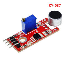 KY-037 New 4pin Voice Sound Detection Sensor Module Microphone Transmitter Smart Robot Car for arduino DIY Kit(China)