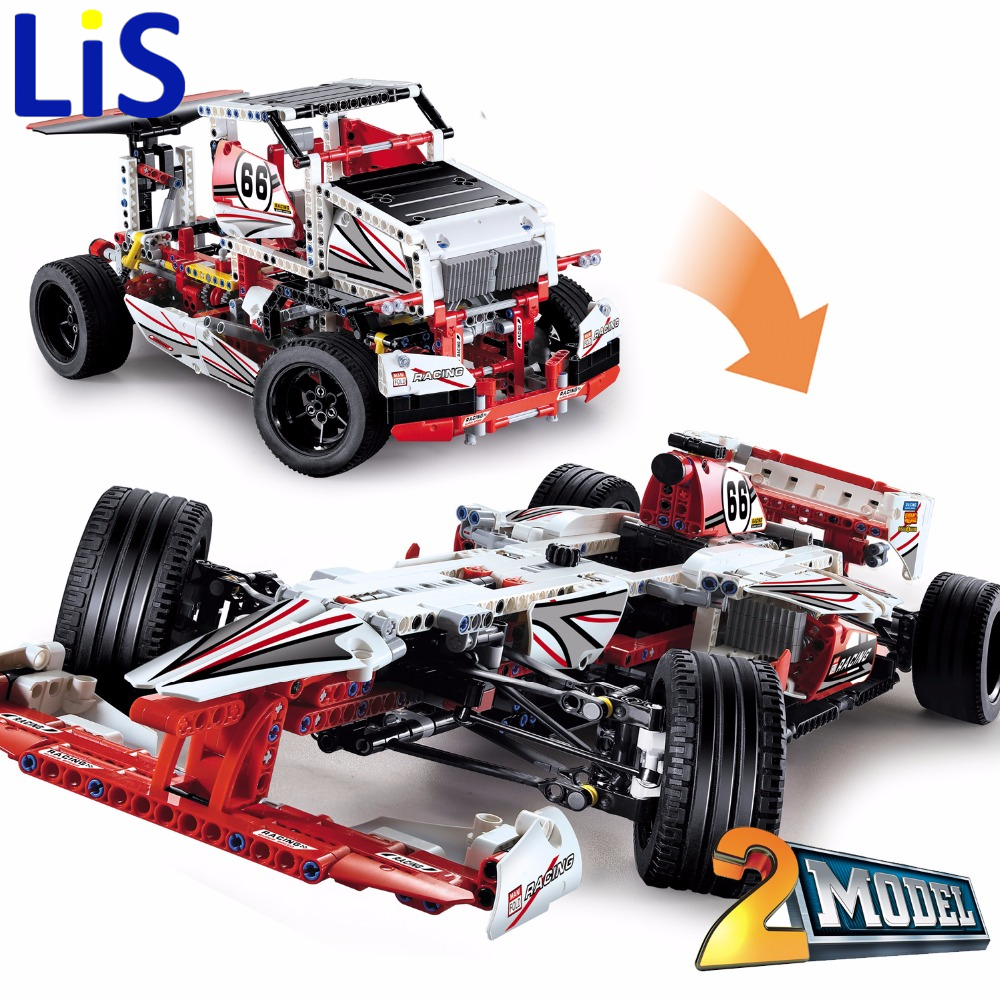 Lis Decool 3366 Technic Grand Prix Racer building bricks blocks Toys for children Compatible with Lepin Bela 42000