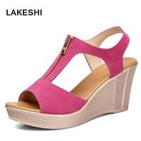Women Wedges Platform Sandals Fashion Summer Gladiator High Heel Sandals Plus Size Ladies Shoes