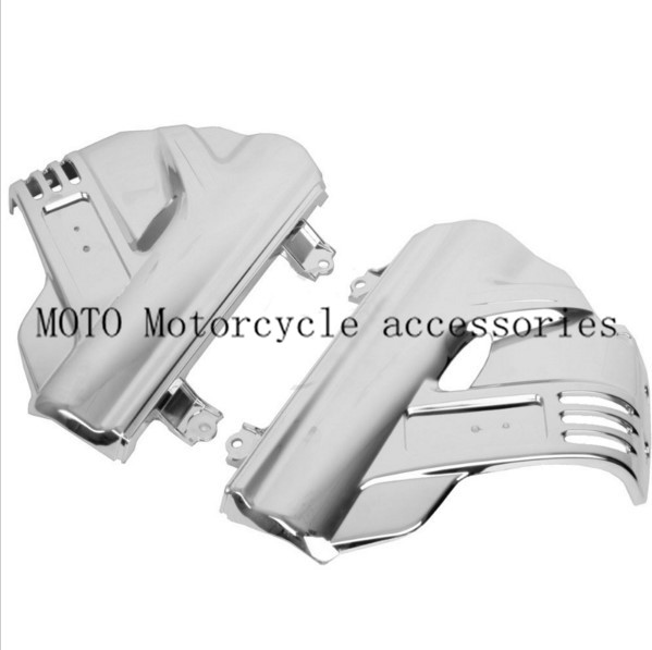 Chrome Motorcycle Front Fender Covers For Honda GL1800 GOLDWING 2006 2007 2008 2009 2010 2011 2012 2013 Motorbike Fender Covers aftermarket free shipping motorcycle parts for motorcycle 2006 2007 2008 2009 kawasaki zx14 zx14r zx 14r axle caps covers chrome