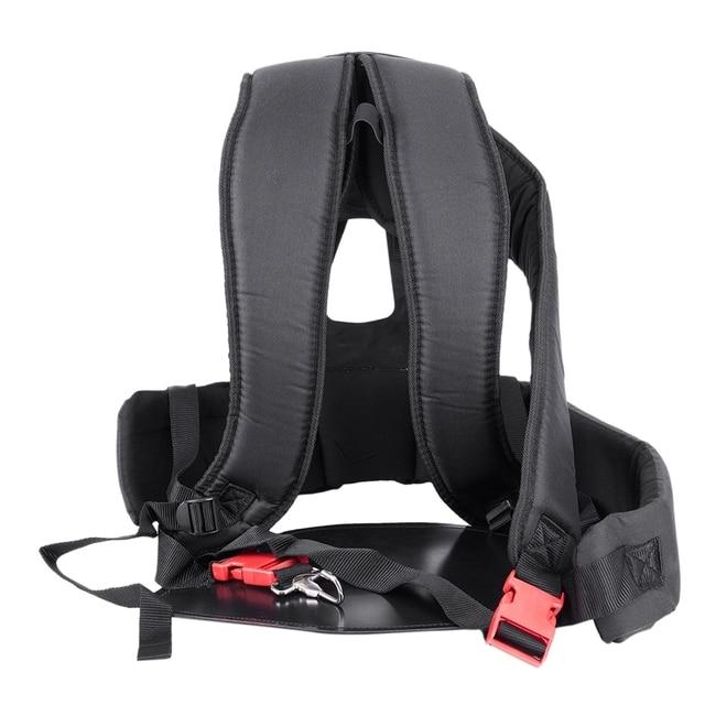 Accessoires de coupe dherbe Double harnais de bandoulière pour débroussailleuse avec panneau de Protection Confortable