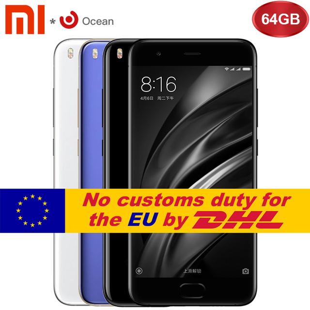 "Original Xiaomi Mi6 6GB 64GB Mobile Phone Xiaomi Mi 6 64GB Snapdragon 835 5.15"" NFC 1920×1080 Dual Cameras Android 7.1 OS"