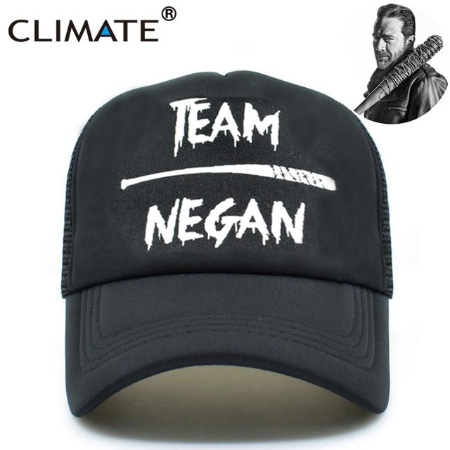 CLIMATE The Walking Dead Trucker Caps Men Team Negan Hat Summer Cool Black  Mesh Caps Men Women Summer Cool Baseball Caps Hats 5e2c7c8bf6a