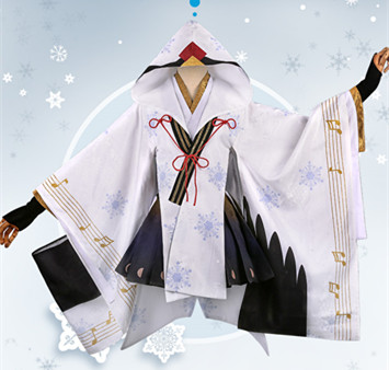 2018 Anime Vocaloid Snow MIKU Yuki Witch Kagura ver. Kimono Uniform Christmas Halloween Role Play cosplay costumes free shipping free shipping vocaloid hatsume miku short green anime cosplay wig 2 x ponytails