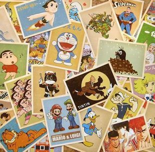 32 pcs Comic Greeting Cards Collector Retro Nostalgia Postcards Cartoon card 10x14cm Carte Postale Office School Supplies 3pcs flying xmas santa ride greeting cards 3d laser cut pop up paper handmade postcards christmas party gifts supplies souvenirs