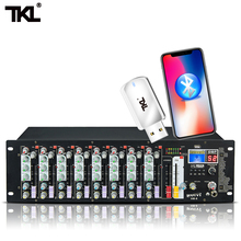 TKL HM-8 8-Channel audio with USB DJ Sound Mixing Console Bluetooth 48V Power switch mixer for  karaoke KTV marth party yuepu ru 8ts professional sound audio mixer 8 channel 48v phantom power reverbration mixing console player usb music for dj