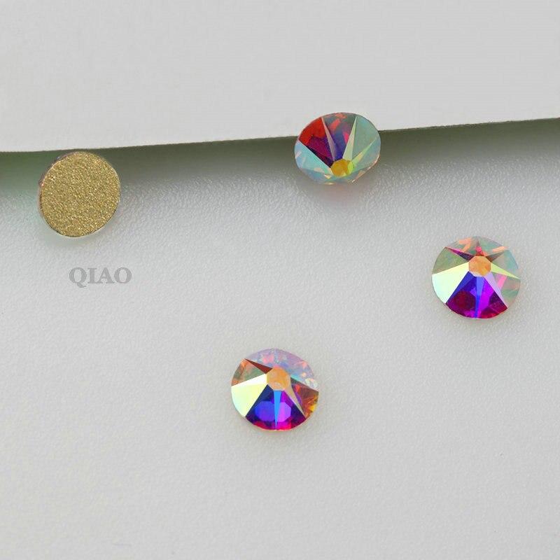 8 big 8 small Cut Facets Nail Rhinestone Crystal Clear Crystal AB Flatback Non Hotfix Rhinestones Decoration Crystal Stones in Rhinestones from Home Garden