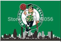 Free Shipping Boston Celtics championship banners city home decoration banner 3x5ft 100D digital printing