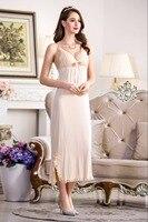 Women Sexy Ankle length Long Cotton Dressing Nighty Gown Sheer Dress Evening Nightgown V neck Nightie Sleepwear Lingerie
