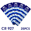 Botão bateria 25 Pcs 3 V Lithium Coin Células BR927 CR927 DL927 ECR927 5011LC 927 EE6259