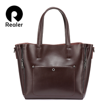 REALER women handbags split leather crossbody Shoulder bag t
