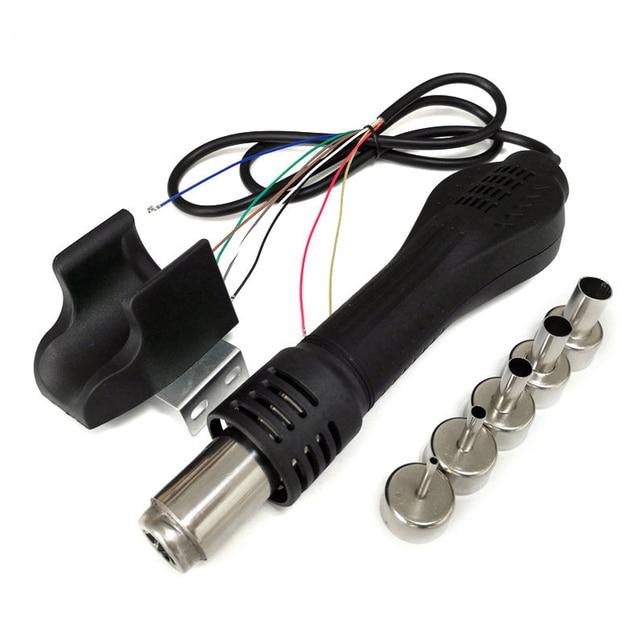 Pistola de aire caliente, estación de soldadura, soporte de boquilla de mango de secador, herramientas de soldadura DIY para 858 8858 858D 898D 878 8586 878A, soldadura de reprocesado