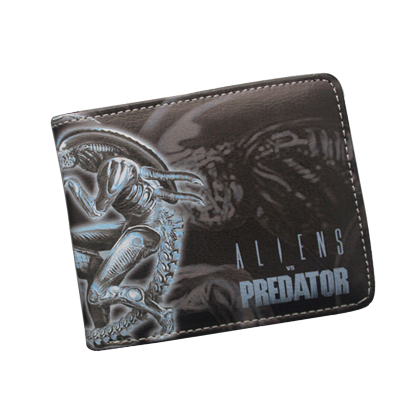 carteira Science Fiction Movie ALIEN VS PREDATOR Wallet & Purse Leather Men Money Bag Card Holder Slim Anime Wallet Dollar Price pocket monster pokemon wallet teenager boy girl kawaii pikachu poke ball wallet naruto student dollar bag card holder purse 12