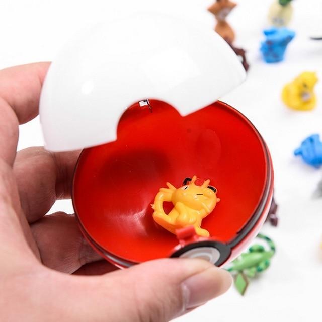 DROPSHIPPING 1Pcs Pokeball + 1pcs Casuale Figura All'interno action figures Giocattoli per i bambini Raffreddare collezione di giocattoli per il Capretto regalo di compleanno 2