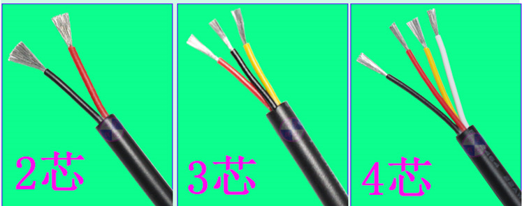 Fast Free Ship 10M 2464 Power Cord Sheathed Lines/sheath Wires 2464-4*20AWG Electronic Line/4 Core Electron Beam 300V